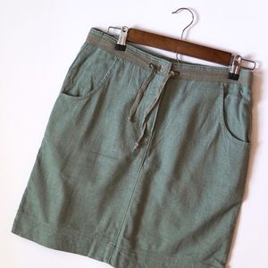 WoolRich Hunter Green Khaki Midi Skirt!